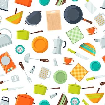 Ícones lisos de utensílios de cozinha