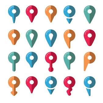 Ícones localização