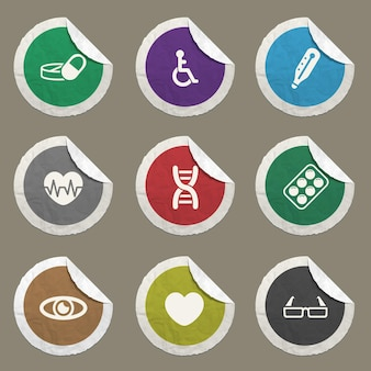 Ícones médicos definidos para sites e interface do usuário
