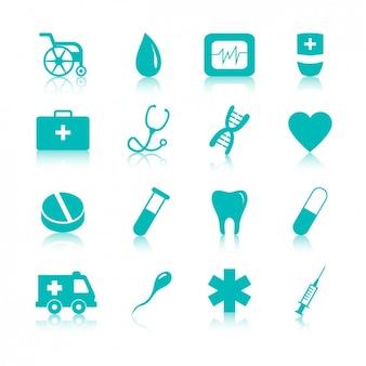 Ícones médicos embalar