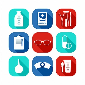 Ícones médicos planas definir