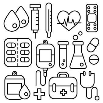 Ícones médicos.