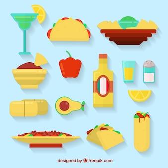 Ícones mexicanos do alimento