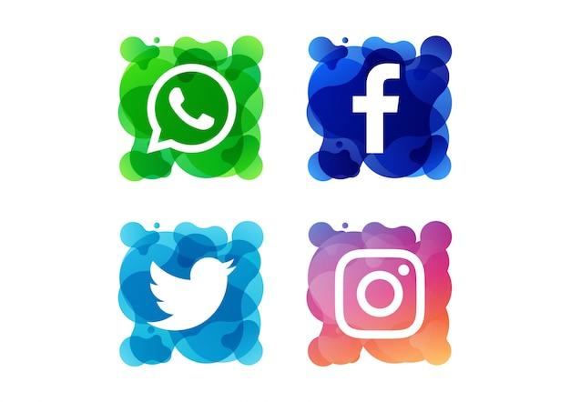 Ícones para mídias sociais