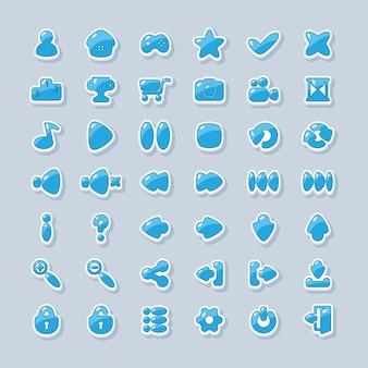 Ícones para o design de interface de jogos e aplicativos para celular