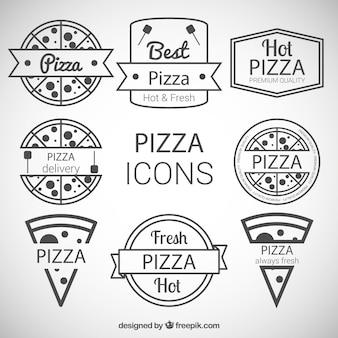 Ícones pizza