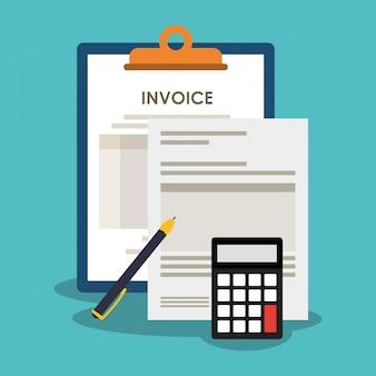 Ícones relacionados à economia de faturas