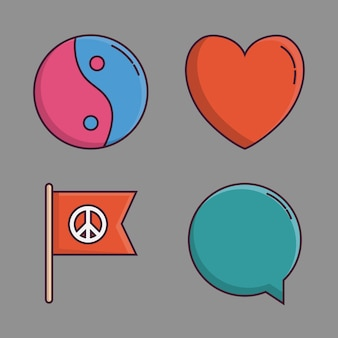 Ícones relacionados à paz