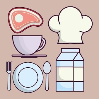 Ícones relacionados com alimentos