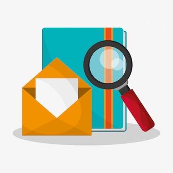 Ícones relacionados com o exame de arquivos