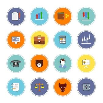 Ícones rodada de negócios