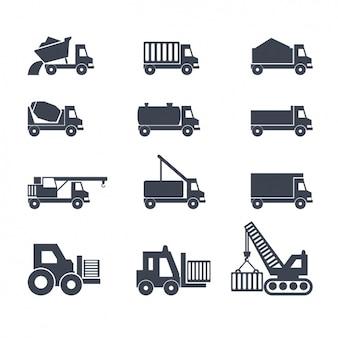 Ícones sobre caminhões