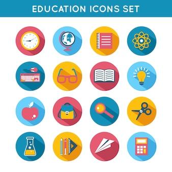 Ícones sobre educação