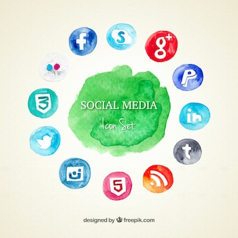 Ícones sociais dos media set