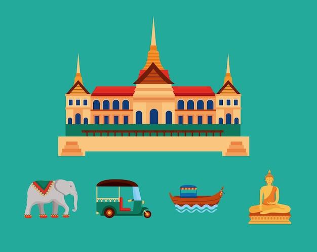 Ícones tradicionais da cultura tailandesa
