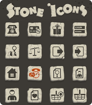 Ícones vetoriais de interface de comércio eletrônico para web e design de interface de usuário
