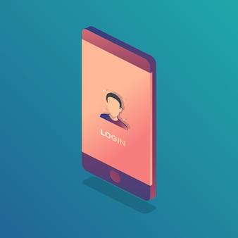Id de rosto de digitalização de smartphone