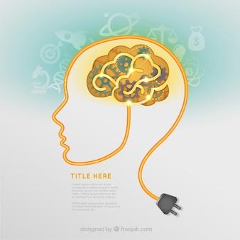Idéia criativa cérebro