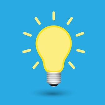Ideia criativa da lâmpada