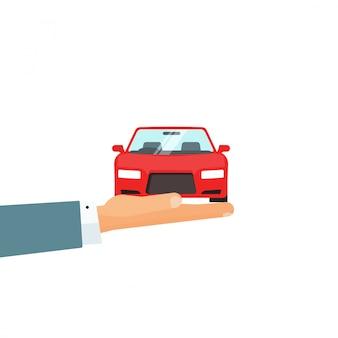 Idéia de atendimento automotivo ou serviço de locação