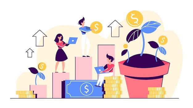 Ideia de banner de web de riqueza de investimento e finanças.