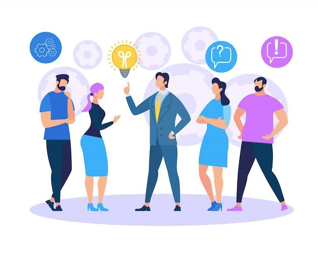 Idéia de compartilhamento de treinamento de negócios