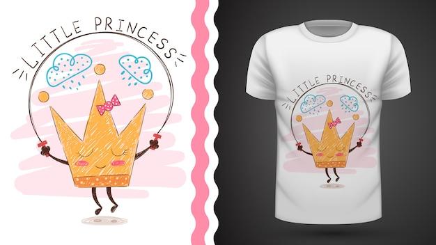Idéia de coroa de ouro para impressão t-shirt