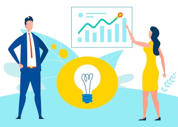 Idéia de desenvolvimento de negócios plana