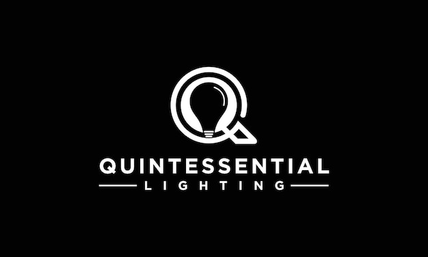 Ideia de design de letra q de lâmpada criativa