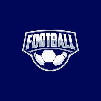 Ideia de design de logotipo de esporte de futebol