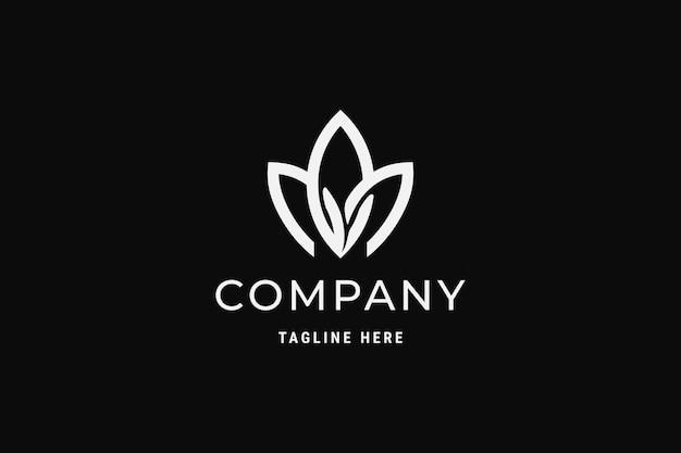 Ideia de design de logotipo de folha simples