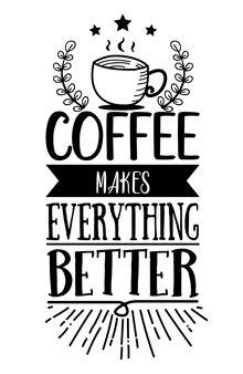 Idéia de design de quadro de café