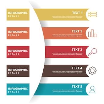 Ideia de diagrama criativo conceito de plano de negócios modelo de elemento de infográfico
