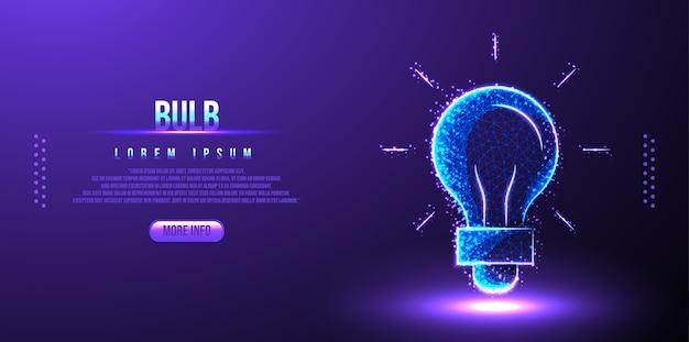 Idéia de lâmpada wireframe poli baixa