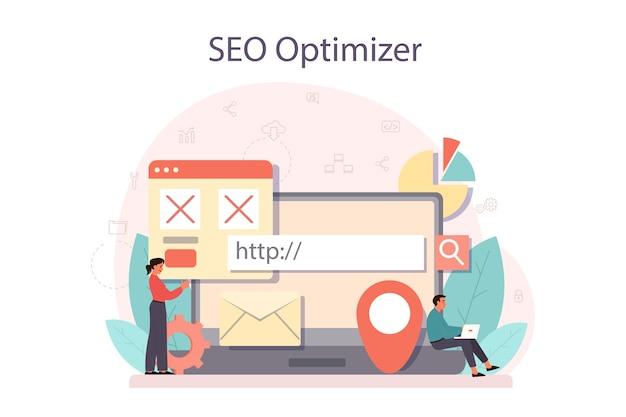Ideia de otimização de mecanismo de pesquisa para site como estratégia de marketing