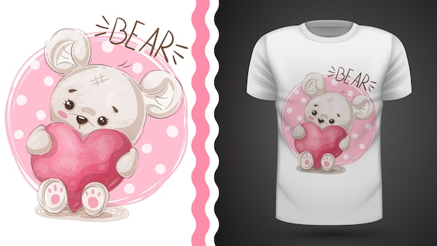 Idéia de pêra bonito para impressão t-shirt