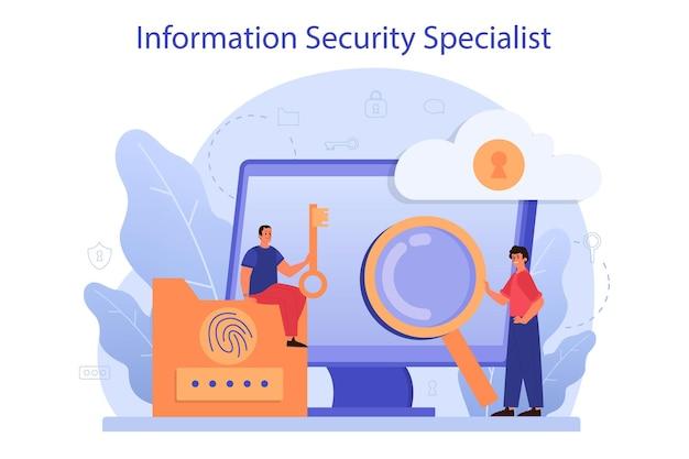 Ideia de proteção e segurança de dados digitais