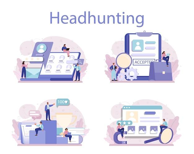 Ideia de recrutamento de negócios e gestão de recursos humanos