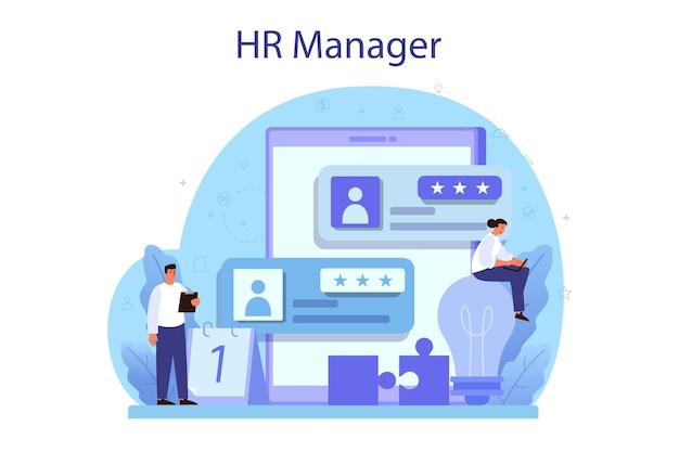 Ideia de recrutamento e gestão de empregos