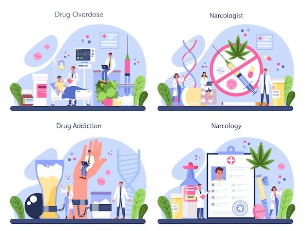 Ideia de tratamento médico para viciados em drogas