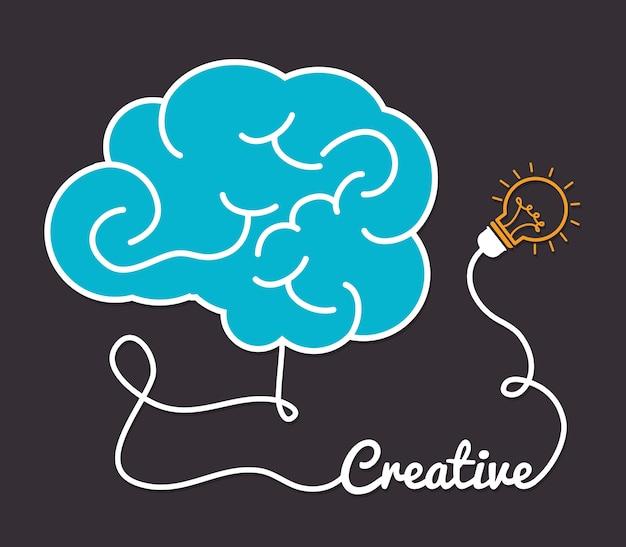 Idéia design, ilustração vetorial.