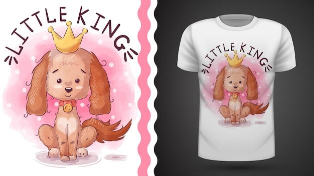 Ideia do cão da princesa para imprimir camiseta