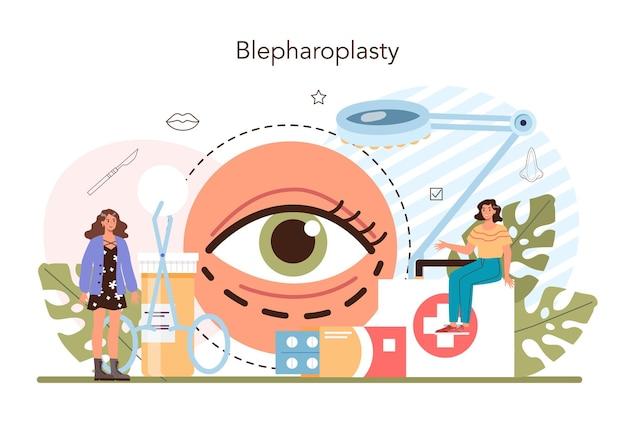 Ideia do conceito de cirurgia plástica da medicina estética facial moderna