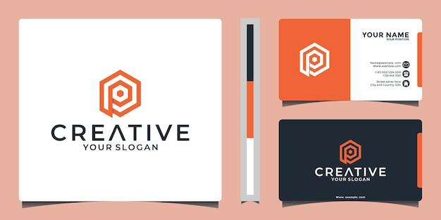 Ideia inicial do design do logotipo da letra p criativa