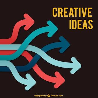 Idéias criativas vetor com setas