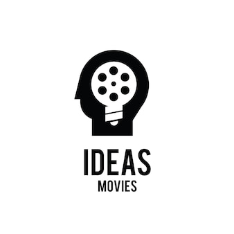 Idéias de filmes think studio film production logo design
