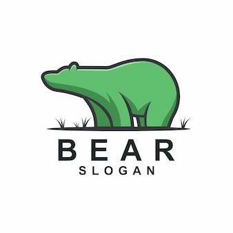 Idéias de logotipo de urso gordo