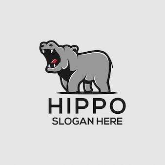 Ideias do logotipo do hipopótamo