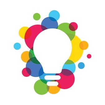Idéias multi color light bulb