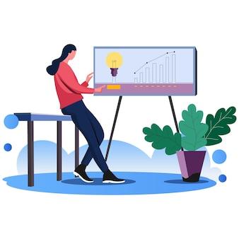 Idéias para desenvolvimento de negócios ilustração vetorial de negócios linha plana